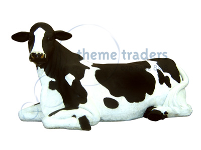 Lying Down Cow Statues Props, Prop Hire